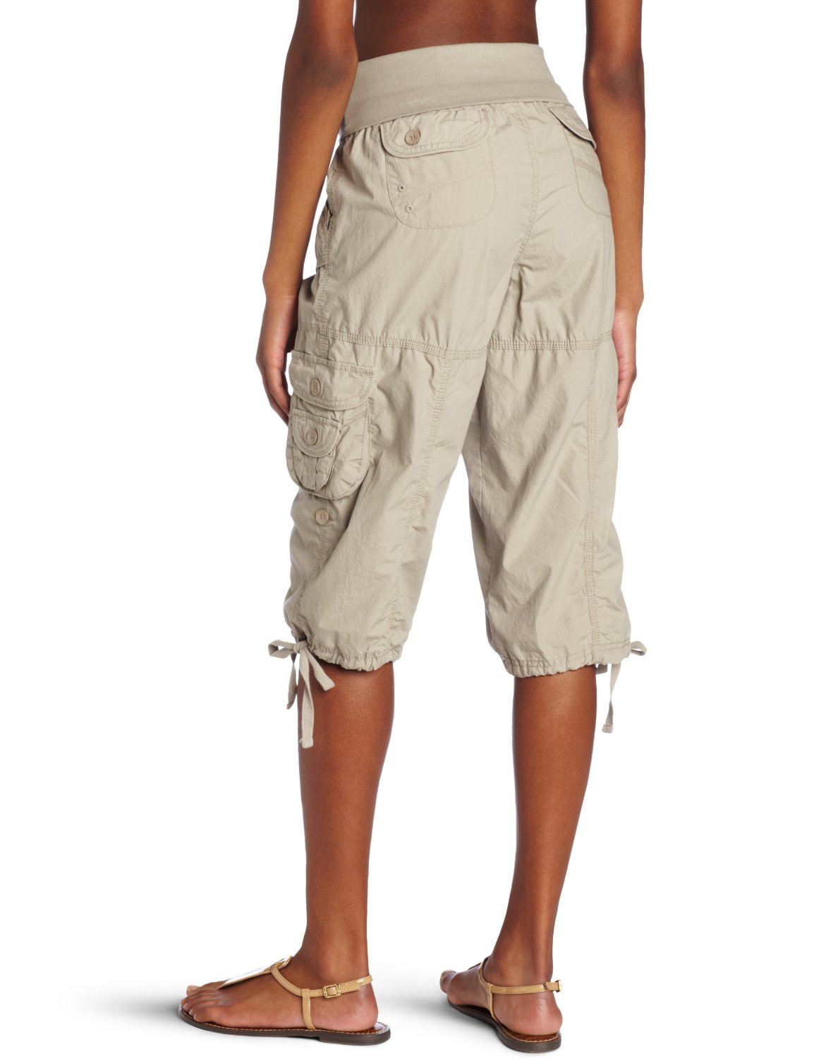 Beautiful Details About Calvin Klein Women39s Cargo Capri Cropped Pants Beige